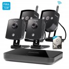 Zmodo 720p HD Smart Wireless Home Kit with 4 Indoor Outdoor WiFi IP Cameras and 1TB Hard Drive