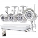 Zmodo 8 Channel 720p Wireless NVR System with 4 HD WiFi IP Cameras and 500GB HD