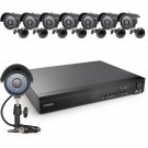 Zmodo 16CH 960H DVR with 8 TVL Bullet Camera and 1TB HDD