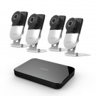 Zmodo 4 Channel 720p Wireless Mini NVR Kit with 4 WiFi IP Cameras & 1TB HDD
