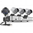 Zmodo 8CH DVR with 4 700TVL  Outdoor IR Security Cameras