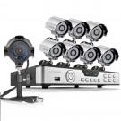 Zmodo 8CH DVR with 8 700TVL  Outdoor IR Security Cameras