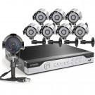 Zmodo 8CH 960H DVR Security System & 8 700TVL Cameras