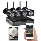 Zmodo 4 Channel 720p Wireless NVR System with 4 HD WiFi IP Cameras and 1TB HD