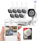 Zmodo 8 Channel 720p Wireless NVR System with 8 HD WiFi IP Cameras and 1TB HD
