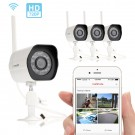 4 Pack 720p HD Wireless Bullet Outdoor IP Camera with Night Vision