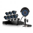 8 CH DVR 600TVL Weatherproof Camera Security System