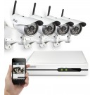 Zmodo 720P 4 CH NVR System with 4 Wireless IP Cameras